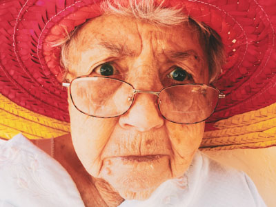 Old lady with glasses