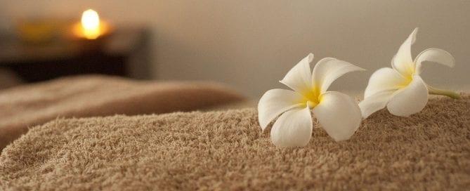 flowers on a towel